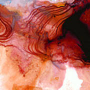 Garnet Sea - Abstract Art By Sharon Cummings Art Print
