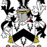 Garr Coat Of Arms Irish Art Print