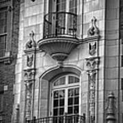 Garrison Hall Window Ut Bw Art Print