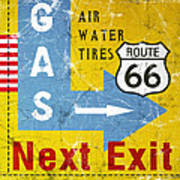 Gas Next Exit- Route 66 Art Print