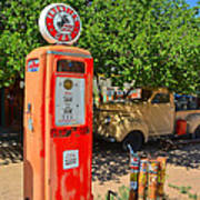 Gas Pump At Embudo Gas Museum Art Print