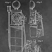 Gas Pump Patent Art Print