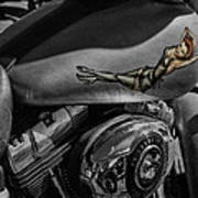 Gas Tank Pin Up Girl Art Print