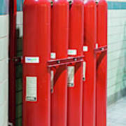 Gaseous Fire Suppression Cylinders Art Print