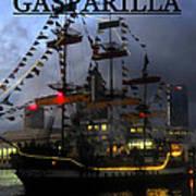 Gasparilla Ship Print Work B Art Print