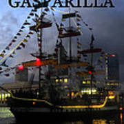Gasparilla Ship Work A Print Art Print