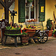 Gast Haus Display In Rothenburg Germany Art Print by Greg Matchick