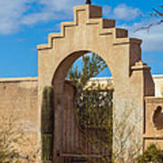 Gate At San Xavier Del Bac Art Print
