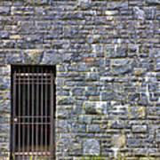 Gate Entrance On Stone Wall Art Print