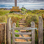 Gate To Holy Island  Art Print by Adrian Evans