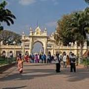 Gate To Maharaja's Palace India Mysore Art Print