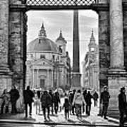 Gate To Piazza Del Popolo In Rome Art Print