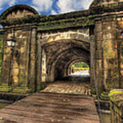 Gates Of Intramuros Art Print by Mario Legaspi