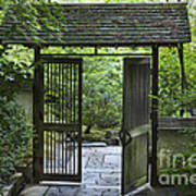 Gates Of Tranquility Art Print by Sandra Bronstein