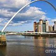 Gateshead Millenium Bridge In Newcastle 6206 Art Print