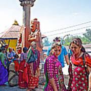 Gathering At Hindu Festival Of Ram Nawami In Kathmandu-nepal Art Print