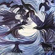 Gathering Of The Ravens Art Print