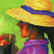 Gathering Tomatoes Art Print