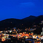Gatlinburg Skyline At Night Art Print