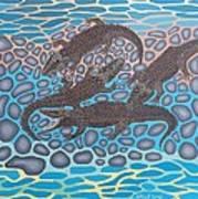 Gator Rock Art Print by Anthony Morris