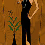 Gatsby Girl Art Print by Troy Brown