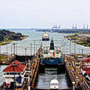 Gatun Locks Panama Canal Art Print
