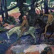 Gauguin, Paul 1848-1903. Ford Running Art Print