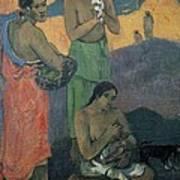 Gauguin, Paul 1848-1903. Three Women Print by Everett
