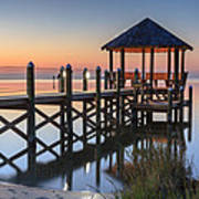 Gently - Gazebo On The Sound Outer Banks North Carolina Art Print