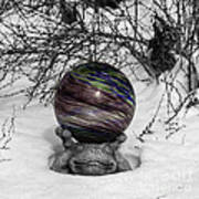 Gazing Ball Squared Art Print