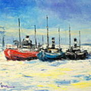 Gdynia Harbour - Winter Art Print