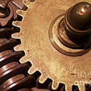 Gear Wheels Art Print