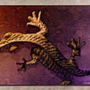 Gecko Dance 2 Art Print