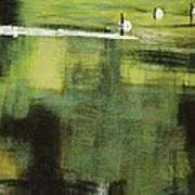 Geese On Pond Art Print