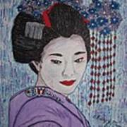 Geisha Girl Art Print
