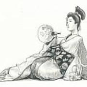 Geisha Iv Art Print