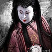 Geisha Kunoichi Art Print