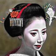 Geisha No.145 Art Print by Yoshiyuki Uchida