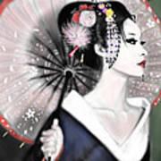 Geisha No.151 Art Print by Yoshiyuki Uchida