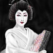 Geisha No.155 Art Print by Yoshiyuki Uchida