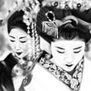 Geisha No.160 Art Print by Yoshiyuki Uchida