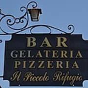 Gelateria Pizzeria Art Print