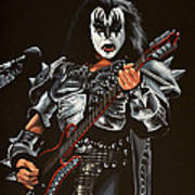 Gene Simmons Of Kiss Art Print
