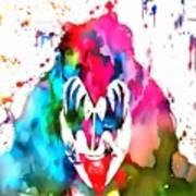 Gene Simmons Paint Splatter Art Print