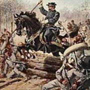 General Sheridan At The Battle Of Five Art Print