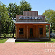 General Store At Historical Park Art Print