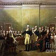General Washington Resigning His Commission Art Print