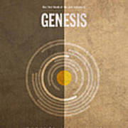 Genesis Books Of The Bible Series Old Testament Minimal Poster Art Number 1 Art Print