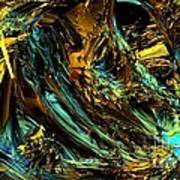 Genesis In Yellow Art Print