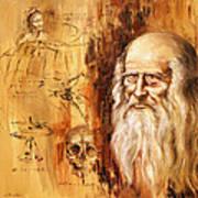 Genius   Leonardo Da Vinci Art Print